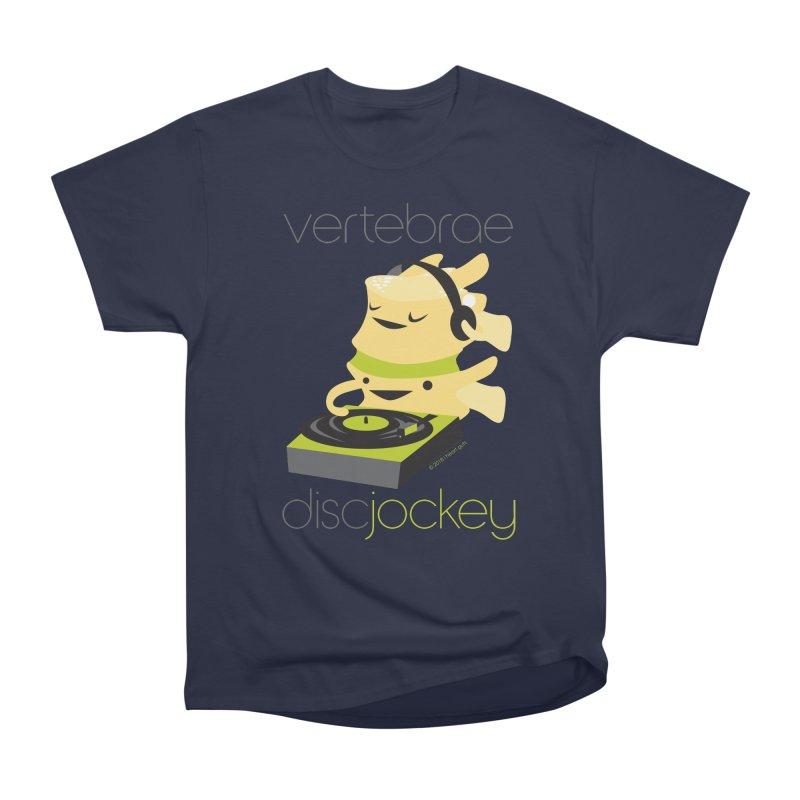 Vertebrae - Disc Jockey Men's Heavyweight T-Shirt by I Heart Guts