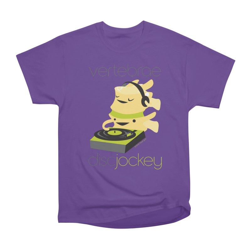 Vertebrae - Disc Jockey Women's Heavyweight Unisex T-Shirt by I Heart Guts