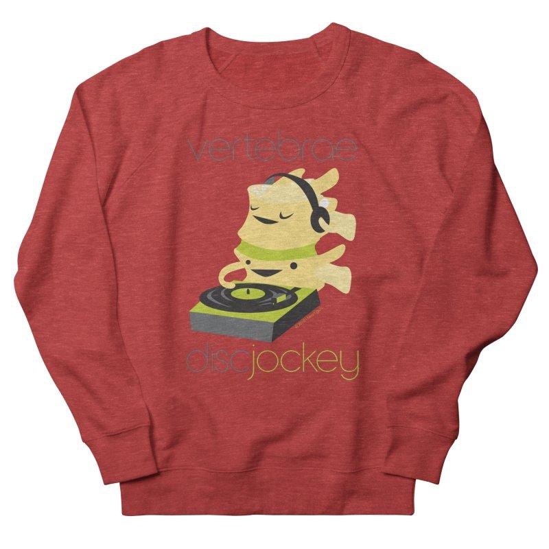 Vertebrae - Disc Jockey Women's French Terry Sweatshirt by I Heart Guts