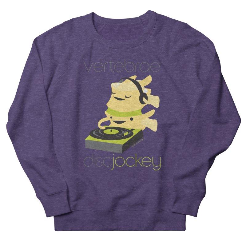 Vertebrae - Disc Jockey Men's French Terry Sweatshirt by I Heart Guts