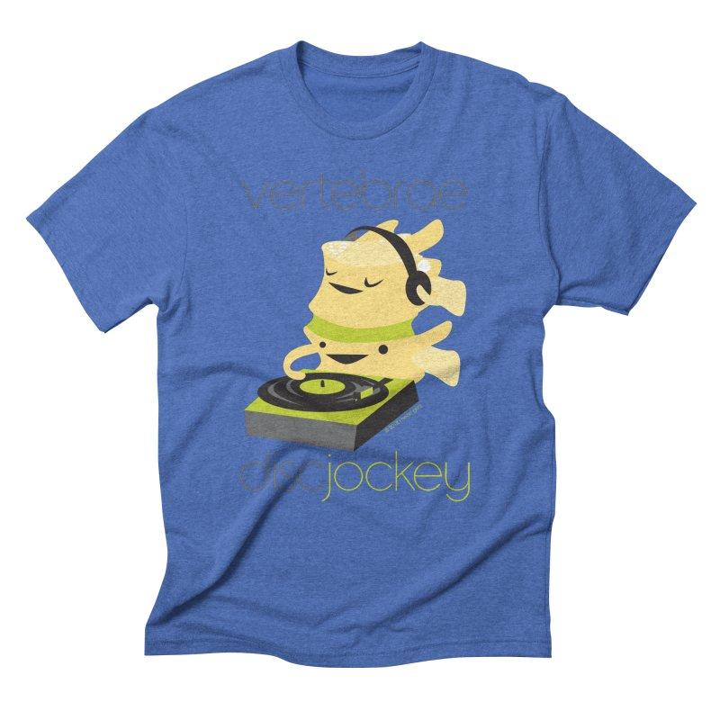 Vertebrae - Disc Jockey Men's Triblend T-Shirt by I Heart Guts