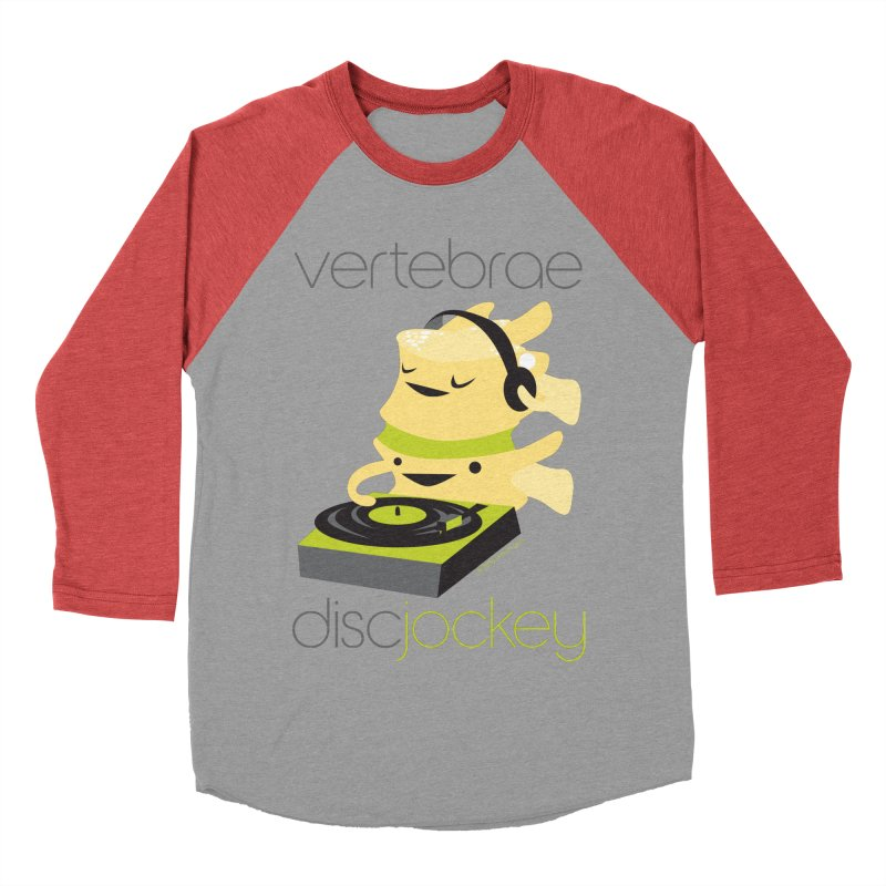 Vertebrae - Disc Jockey Men's Baseball Triblend Longsleeve T-Shirt by I Heart Guts