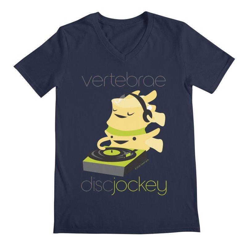 Vertebrae - Disc Jockey Men's Regular V-Neck by I Heart Guts