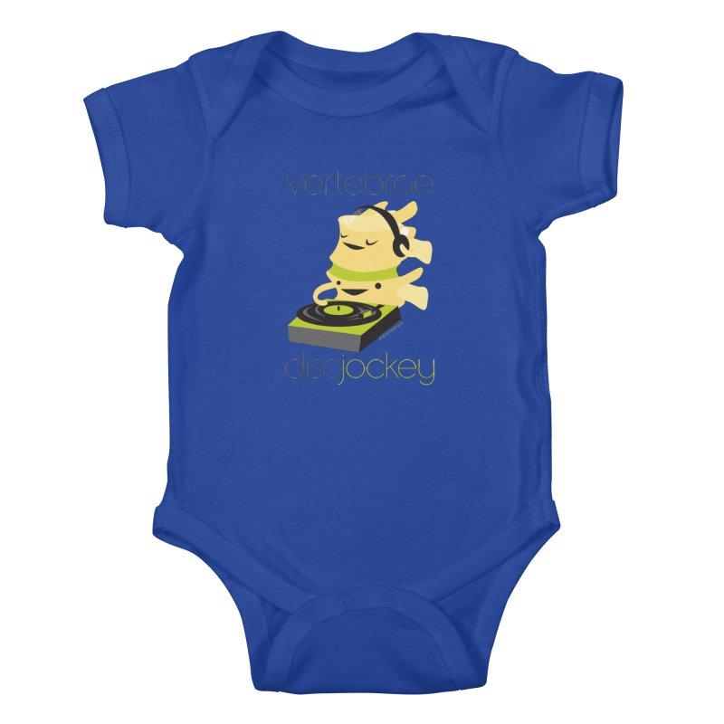 Vertebrae - Disc Jockey Kids Baby Bodysuit by I Heart Guts