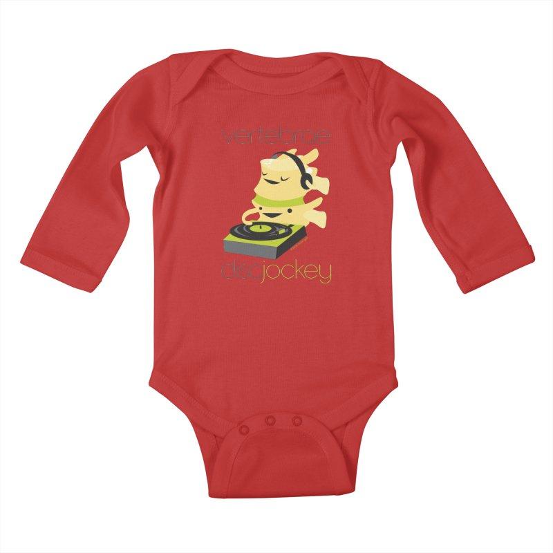 Vertebrae - Disc Jockey Kids Baby Longsleeve Bodysuit by I Heart Guts