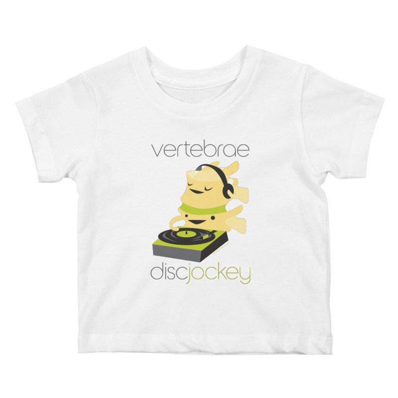 Vertebrae - Disc Jockey Kids Baby T-Shirt by I Heart Guts