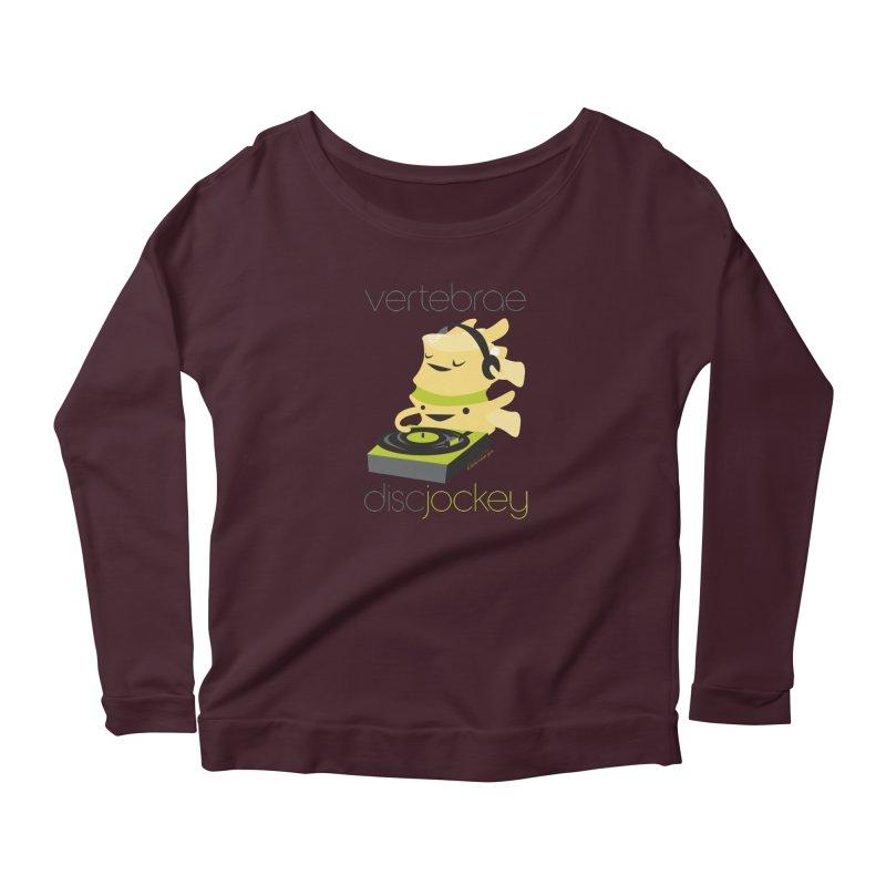 Vertebrae - Disc Jockey Women's Scoop Neck Longsleeve T-Shirt by I Heart Guts