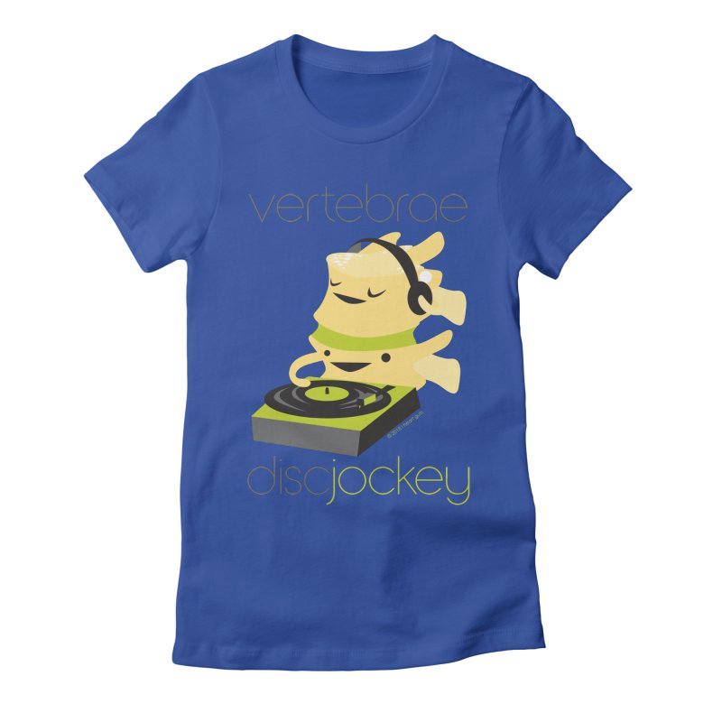 Vertebrae - Disc Jockey Women's Fitted T-Shirt by I Heart Guts