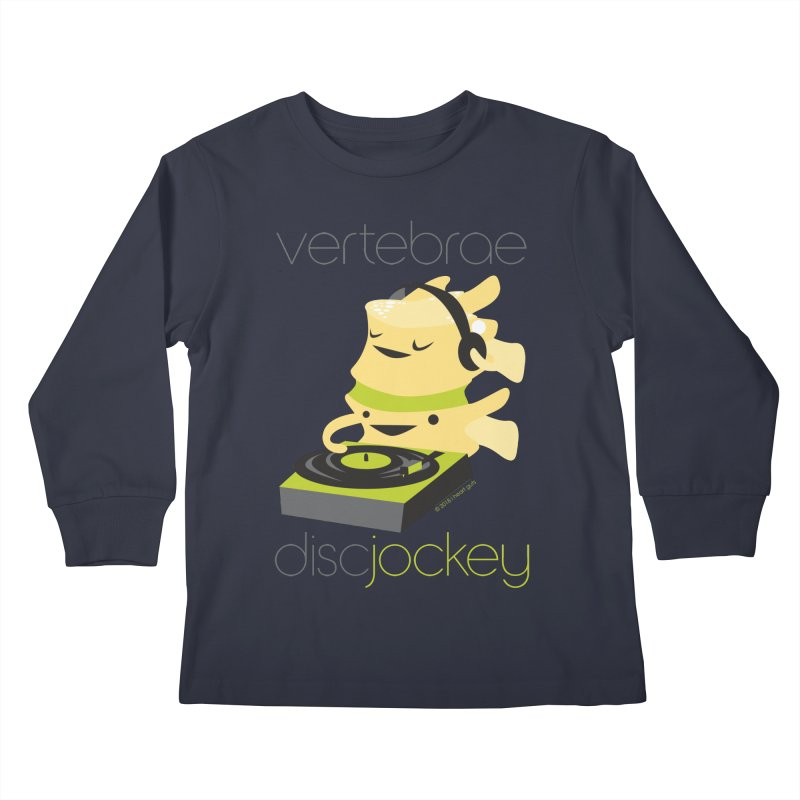 Vertebrae - Disc Jockey Kids Longsleeve T-Shirt by I Heart Guts