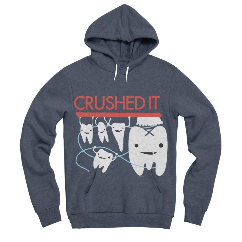 Teeth - Crushed It Men's Sponge Fleece Pullover Hoody by I Heart Guts
