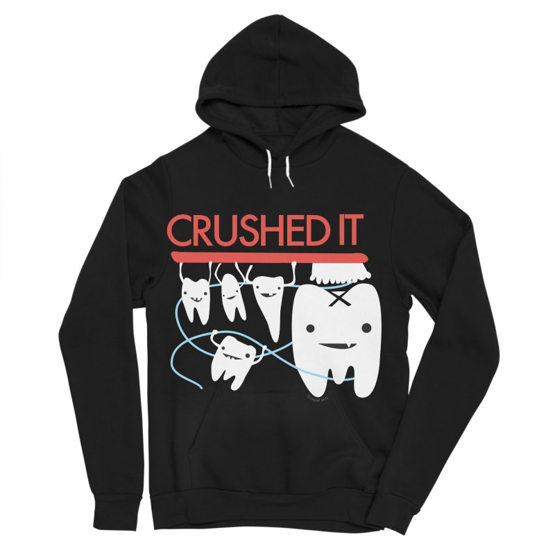 Teeth - Crushed It Men's Sponge Fleece Pullover Hoody by I Heart Guts