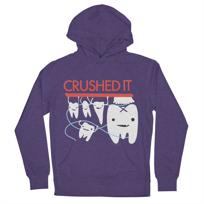 Teeth - Crushed It Men's French Terry Pullover Hoody by I Heart Guts