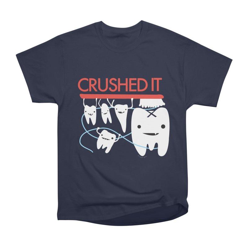 Teeth - Crushed It Men's Heavyweight T-Shirt by I Heart Guts