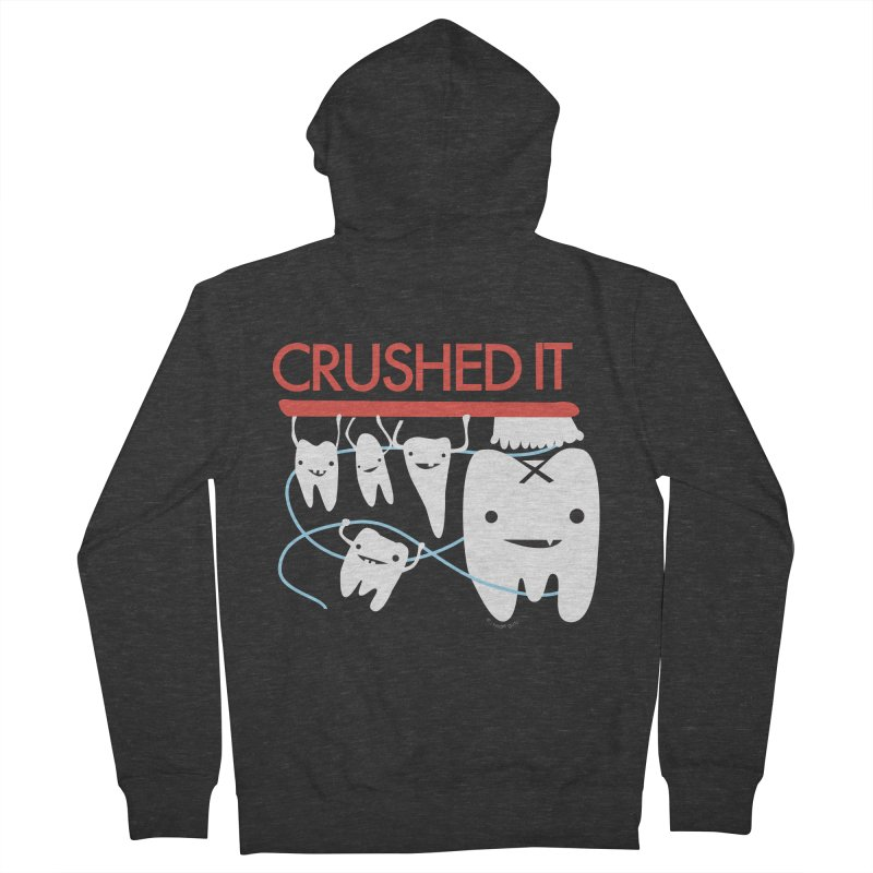 Teeth - Crushed It Women's French Terry Zip-Up Hoody by I Heart Guts