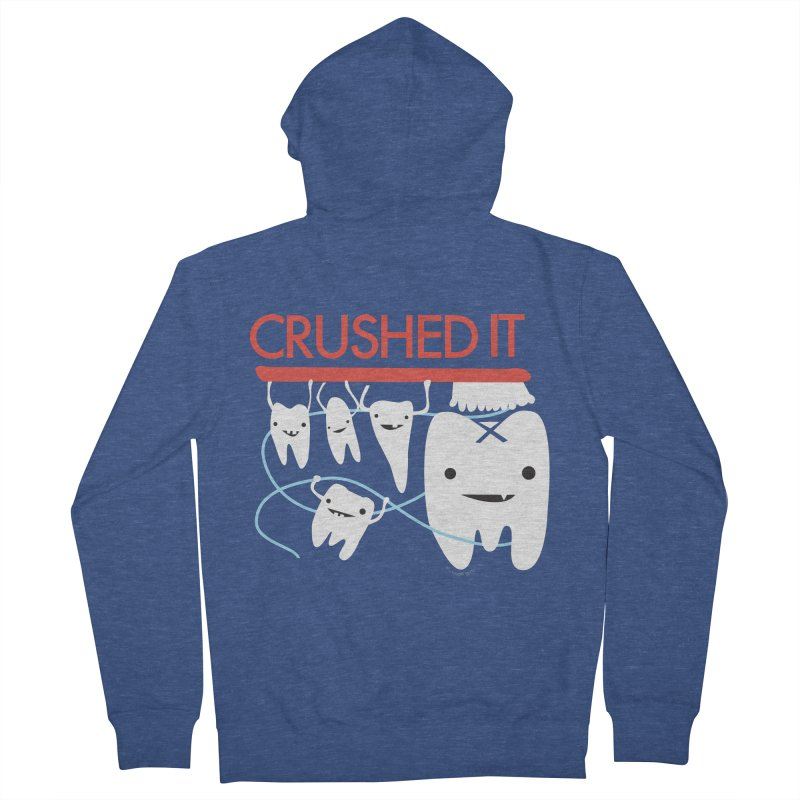 Teeth - Crushed It Men's French Terry Zip-Up Hoody by I Heart Guts