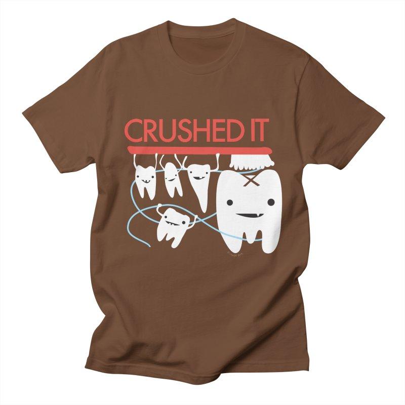 Teeth - Crushed It Men's Regular T-Shirt by I Heart Guts