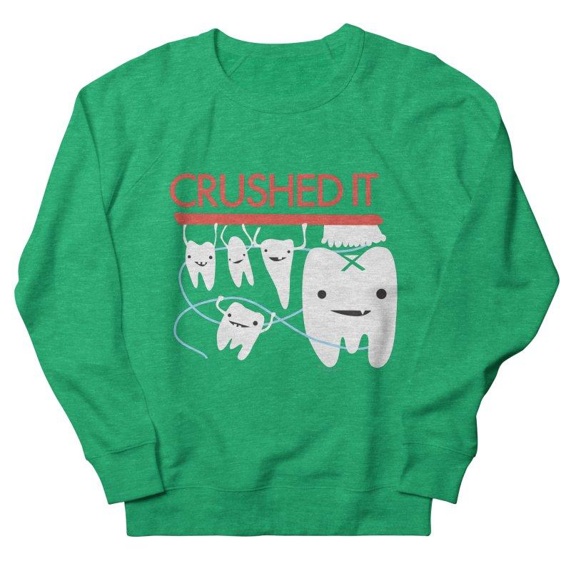 Teeth - Crushed It Men's French Terry Sweatshirt by I Heart Guts