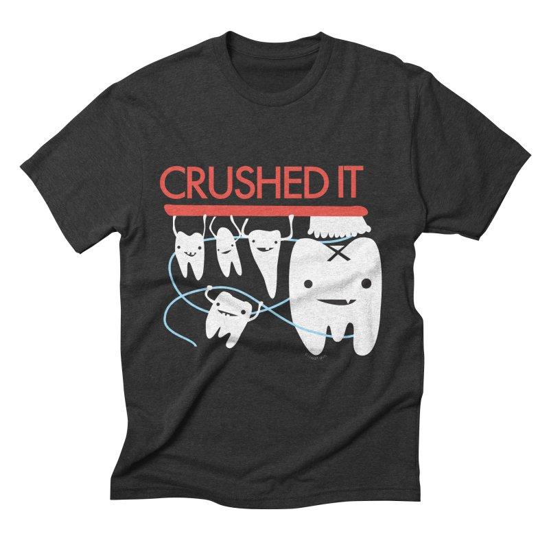 Teeth - Crushed It Men's Triblend T-Shirt by I Heart Guts