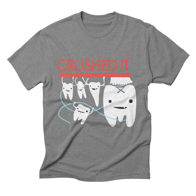 Teeth - Crushed It Men's Triblend T-Shirt by I Heart Guts