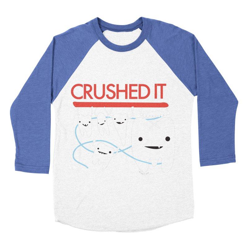 Teeth - Crushed It Women's Baseball Triblend Longsleeve T-Shirt by I Heart Guts