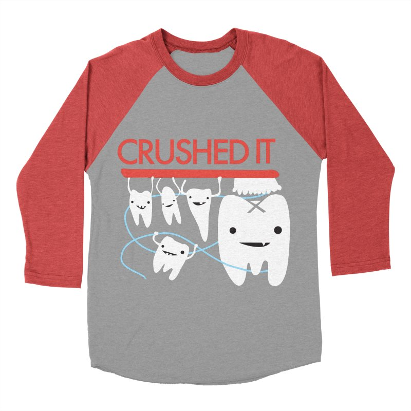 Teeth - Crushed It Men's Baseball Triblend Longsleeve T-Shirt by I Heart Guts