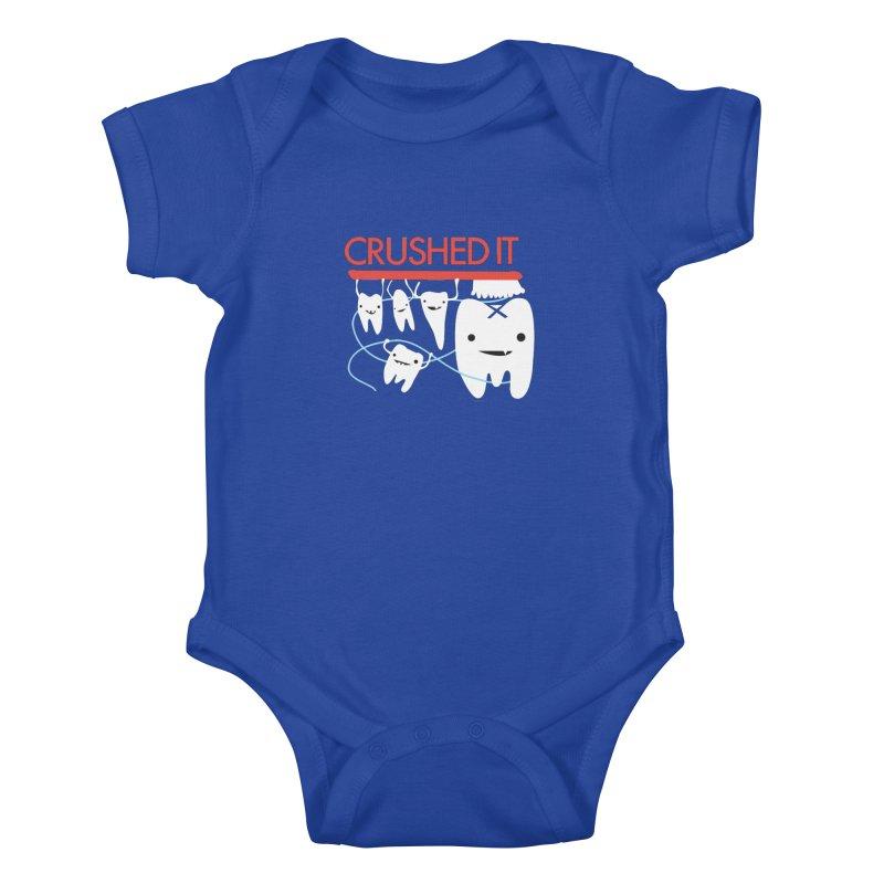 Teeth - Crushed It Kids Baby Bodysuit by I Heart Guts
