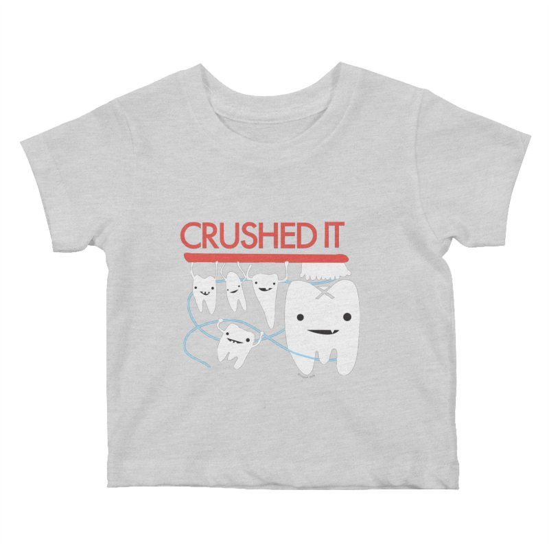 Teeth - Crushed It Kids Baby T-Shirt by I Heart Guts