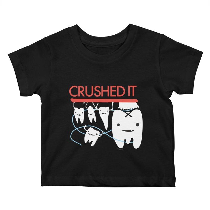 Teeth - Crushed It Kids Baby T-Shirt by I Heart Guts