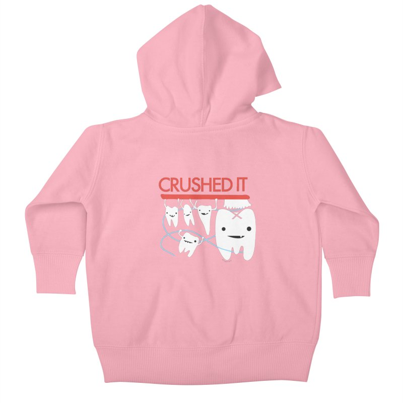 Teeth - Crushed It Kids Baby Zip-Up Hoody by I Heart Guts