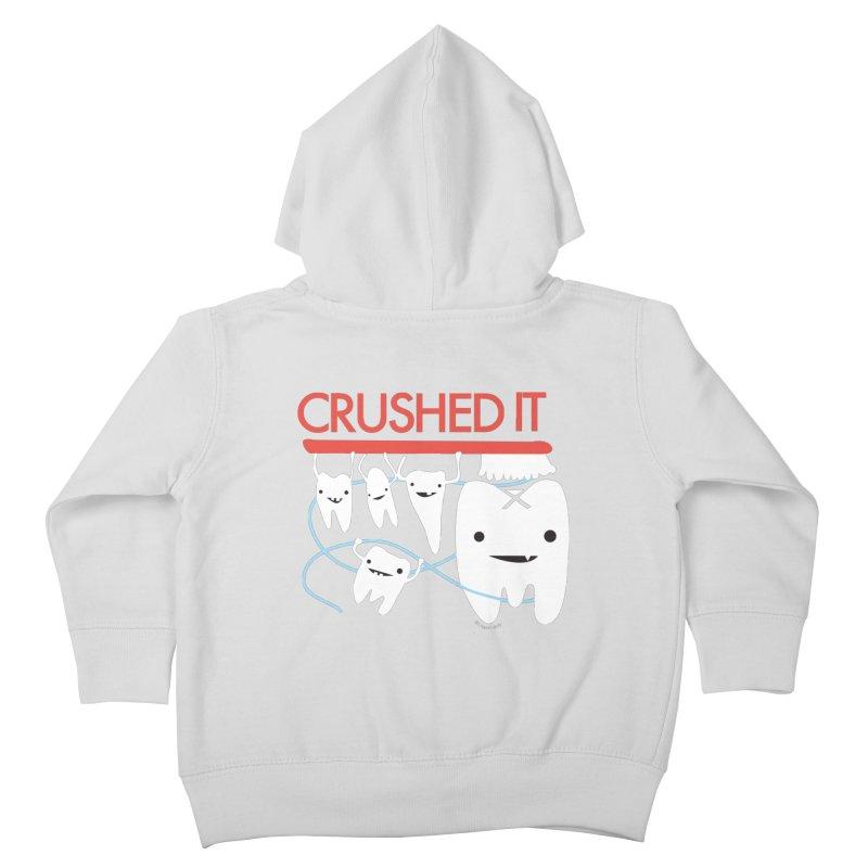Teeth - Crushed It Kids Toddler Zip-Up Hoody by I Heart Guts