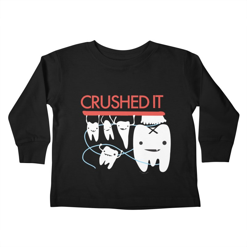 Teeth - Crushed It Kids Toddler Longsleeve T-Shirt by I Heart Guts