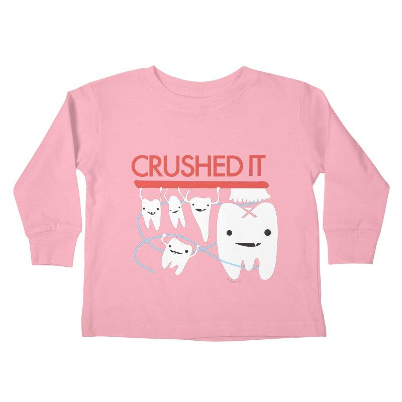 Teeth - Crushed It Kids Toddler Longsleeve T-Shirt by I Heart Guts