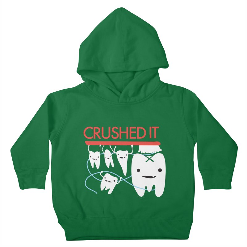 Teeth - Crushed It Kids Toddler Pullover Hoody by I Heart Guts