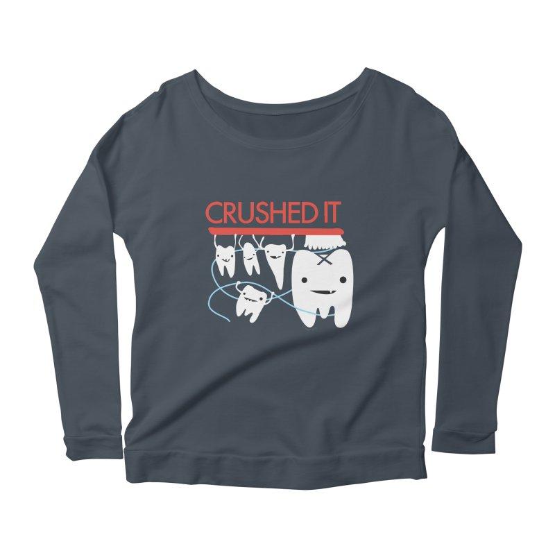 Teeth - Crushed It Women's Scoop Neck Longsleeve T-Shirt by I Heart Guts