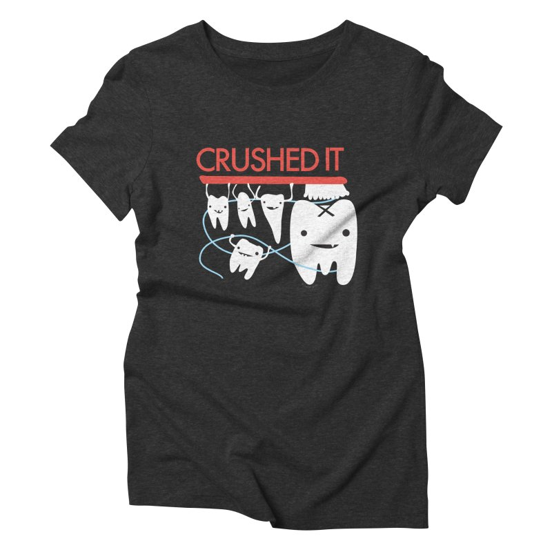 Teeth - Crushed It Women's Triblend T-Shirt by I Heart Guts