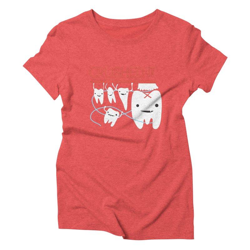 Teeth - Crushed It Women's Triblend T-Shirt by I Heart Guts