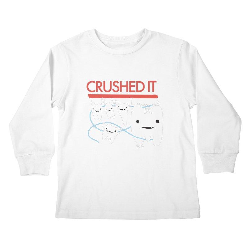 Teeth - Crushed It Kids Longsleeve T-Shirt by I Heart Guts