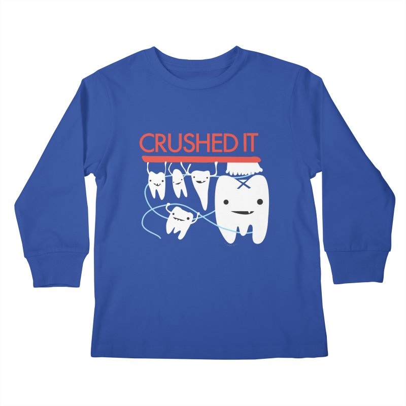 Teeth - Crushed It Kids Longsleeve T-Shirt by I Heart Guts