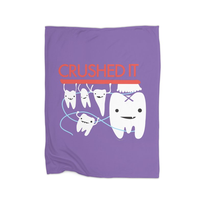 Teeth - Crushed It Home Blanket by I Heart Guts