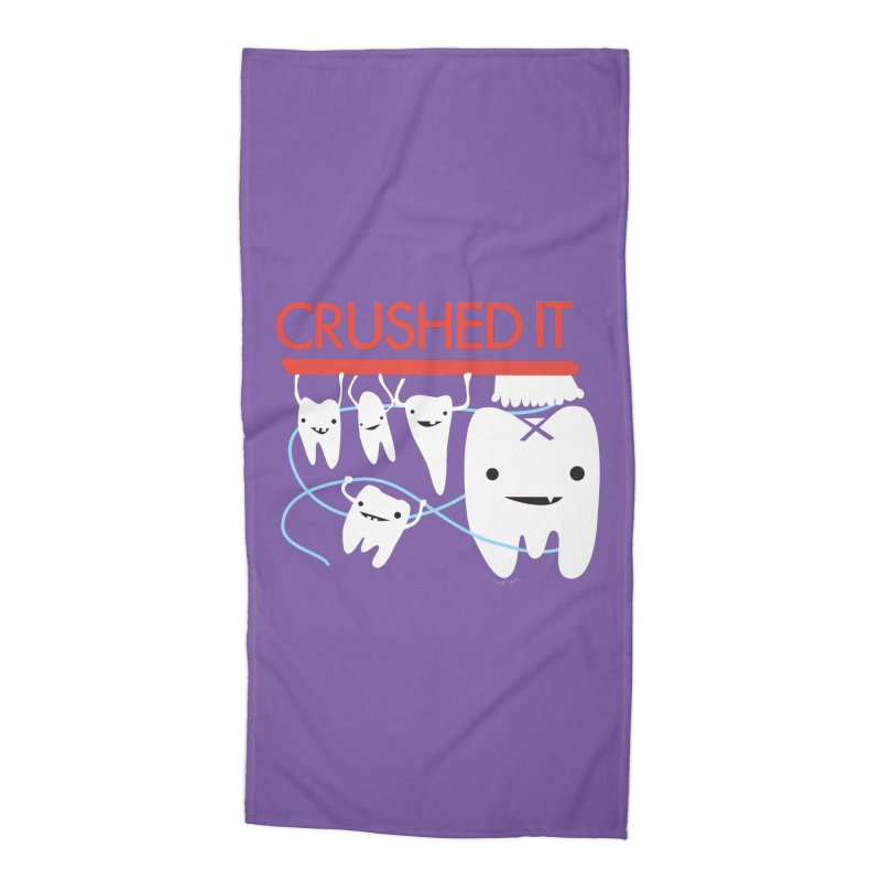 Teeth - Crushed It Accessories Beach Towel by I Heart Guts