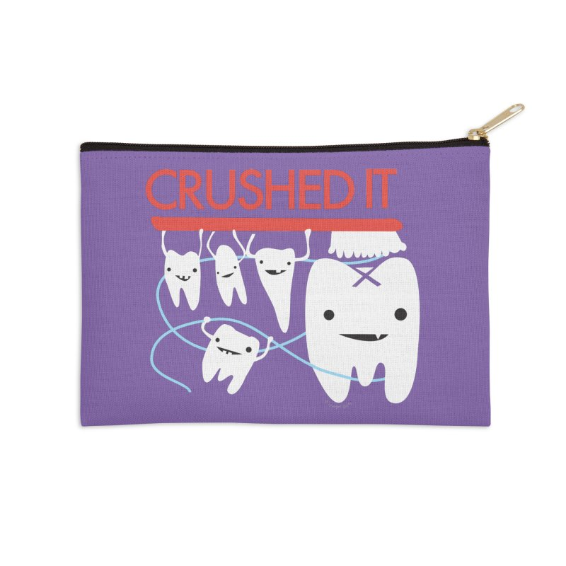 Teeth - Crushed It Accessories Zip Pouch by I Heart Guts