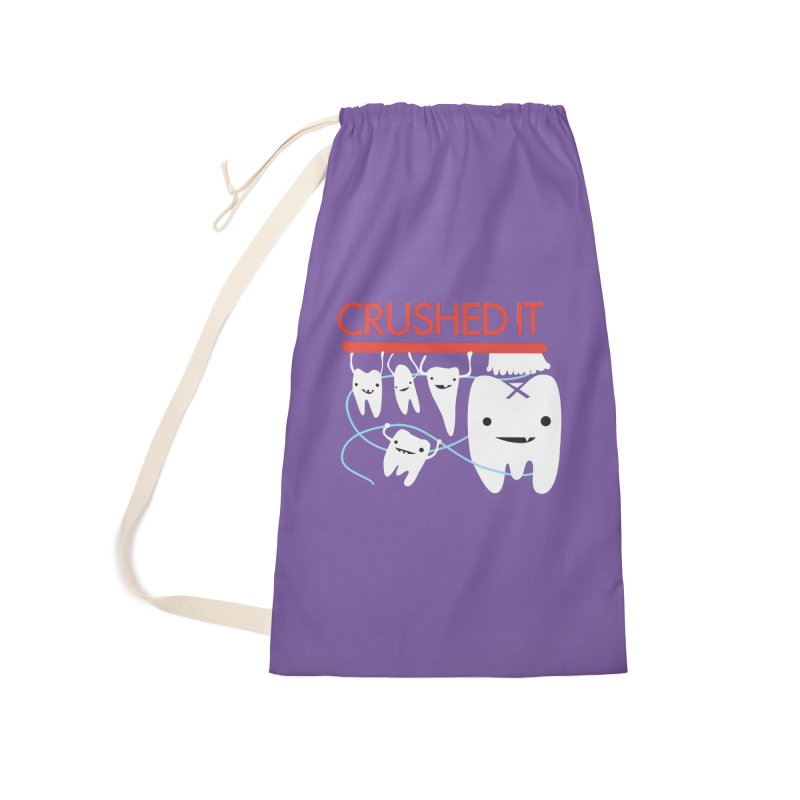 Teeth - Crushed It Accessories Laundry Bag Bag by I Heart Guts