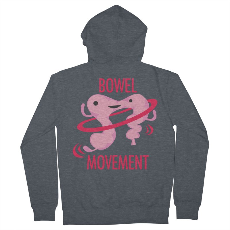 Bowel Movement Men's French Terry Zip-Up Hoody by I Heart Guts