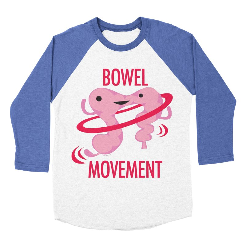 Bowel Movement Men's Baseball Triblend Longsleeve T-Shirt by I Heart Guts