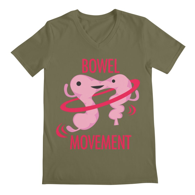 Bowel Movement Men's Regular V-Neck by I Heart Guts