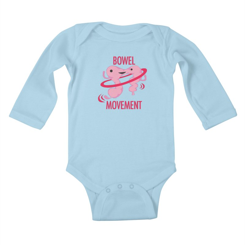 Bowel Movement Kids Baby Longsleeve Bodysuit by I Heart Guts