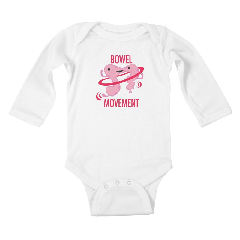 Bowel Movement Kids Baby Longsleeve Bodysuit by I Heart Guts