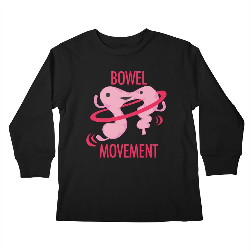 Bowel Movement Kids Longsleeve T-Shirt by I Heart Guts