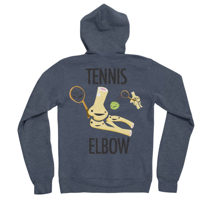 Tennis Elbow Men's Sponge Fleece Zip-Up Hoody by I Heart Guts