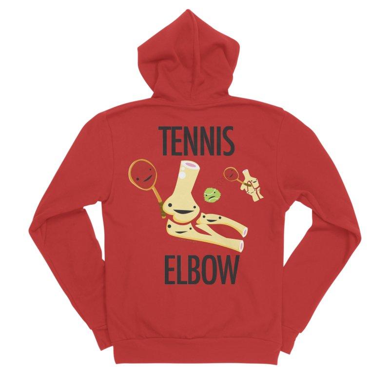 Tennis Elbow Women's Sponge Fleece Zip-Up Hoody by I Heart Guts